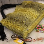 Yellow Pattern Python Napoly Handbag