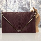 Bordeaux Large Python Envelope