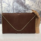 Brown Large Python Envelope