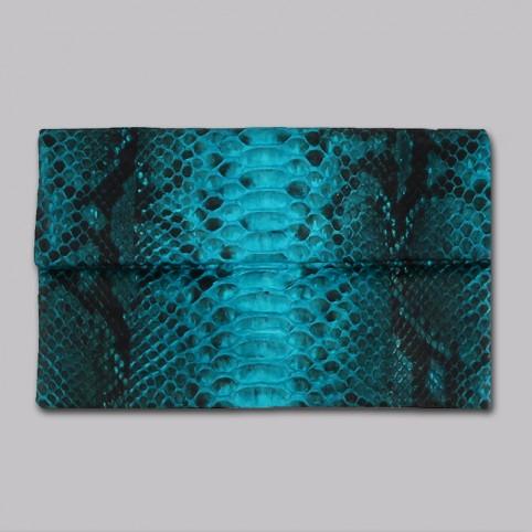 Pochette Clutch Turquoise Motif