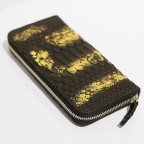 Black and Gold Python Wallets