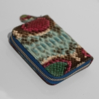 Blue Multicolored Python Small Wallet