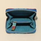 Porte Monnaie Multicolore bordure Bleu