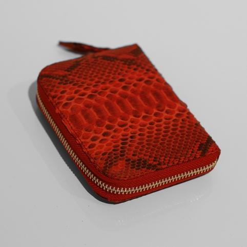 Porte Monnaie en python Rouge motif