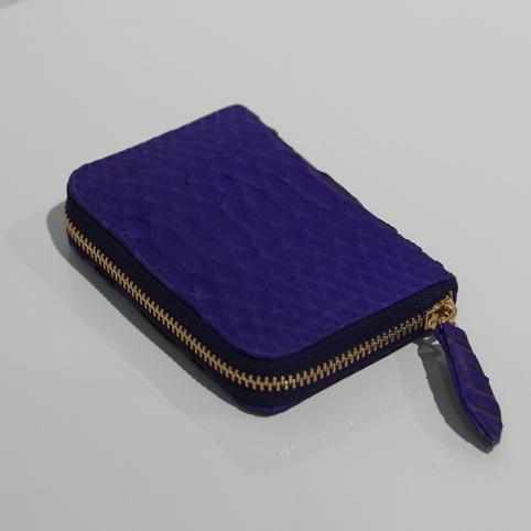 Porte Monnaie en python Bleu electrique