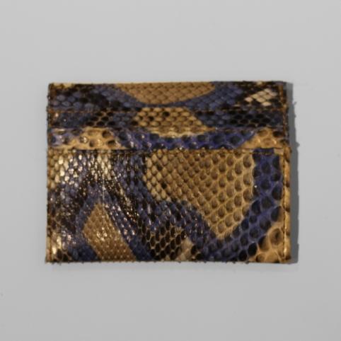 Porte carte en python Bleu motif