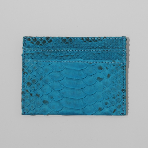 Porte carte en python Bleu ciel