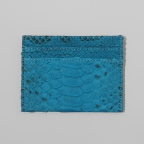 Light Blue Python Card Holder