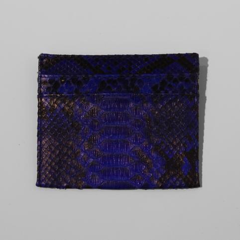 Porte carte en python Bleu nuit