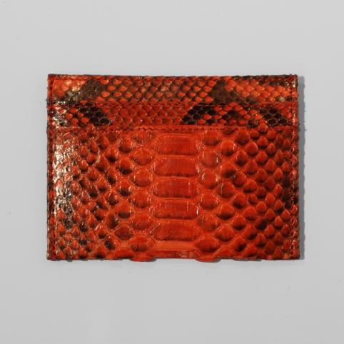Porte carte en python Orange motif