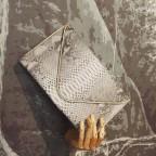 Grande enveloppe en python Gris Motif