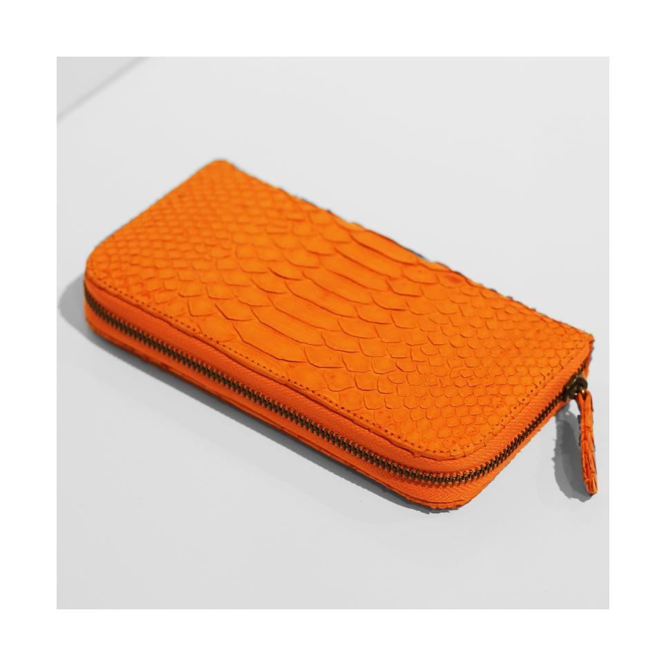 Portefeuilles classique en Orange