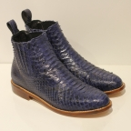 Blue Python Boots Size 39