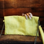 Yellow Christine Clutch