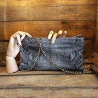 Grey Christine Clutch