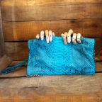 Turquoise Christine Clutch