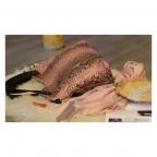 Napoly sac à main en python pink motif