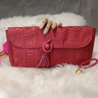 Red Clutch Pompon