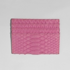 Soft Pink Python Card Holder