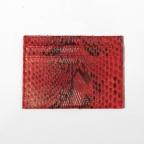 Porte carte en python Rouge motif