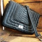 Angie Black Python Bag