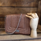 Angie Brown Python Bag
