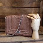 Angie Brown Python Bag