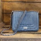 Angie Night Blue Python Bag