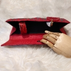 Clutch Baguette Red and Gold