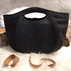Black Python shopping bag