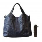 Napoly sac à main en python blue motif