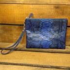 Pochette simple en python Bleu avec poignée