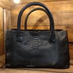 Loona Black Python Bag