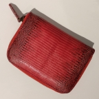 Red Patterns Lizard Small Wallet