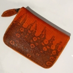 Orange Patterns Lizard Small Wallet