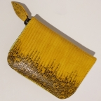 Yellow Patterns Lizard Small Wallet