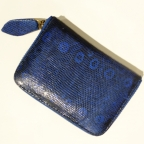Night Blue Patterns Lizard Small Wallet
