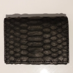 Black Python Card Holder with Coin Storage