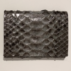 Grey Python Card Holder with Coin Storage