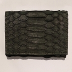 Green Python Card Holder with Coin Storage