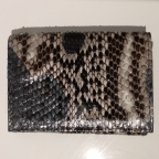 Grey Patterns Python Card Holder with Coin Storage