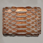 Coral Pearl Python Card Holder with Coin Storage