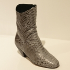 High boots white python size 37