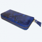 Portefeuilles classique en Python Bleu motif