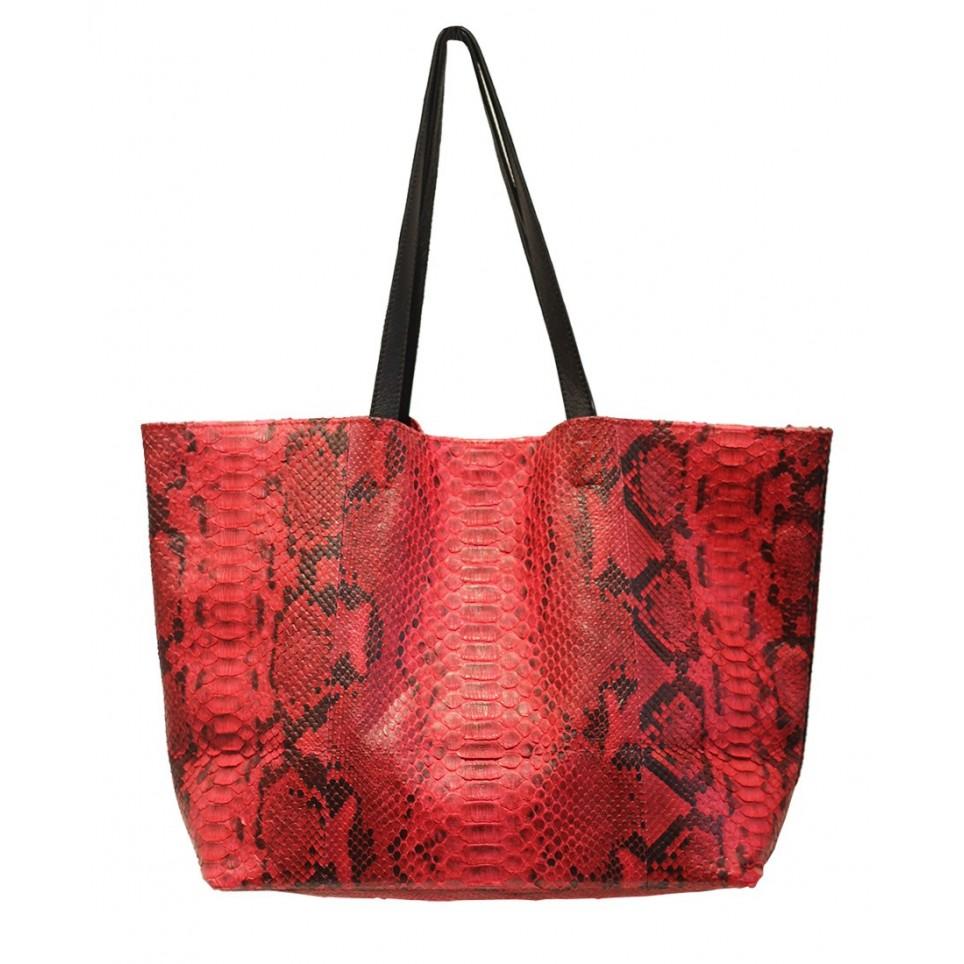 Shopping Bag en python Rouge