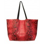 Red Python Shopping Bag