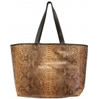 Savanna Python Shopping Bag