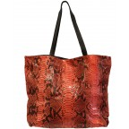 Red Python Ultra Light Shopping Bag