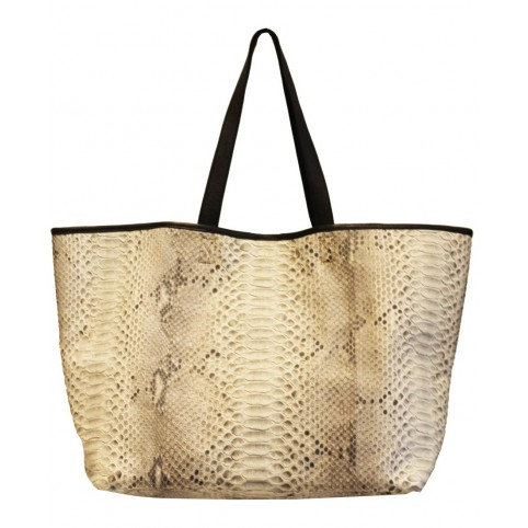 Shopping Bag en python couleur naturelle