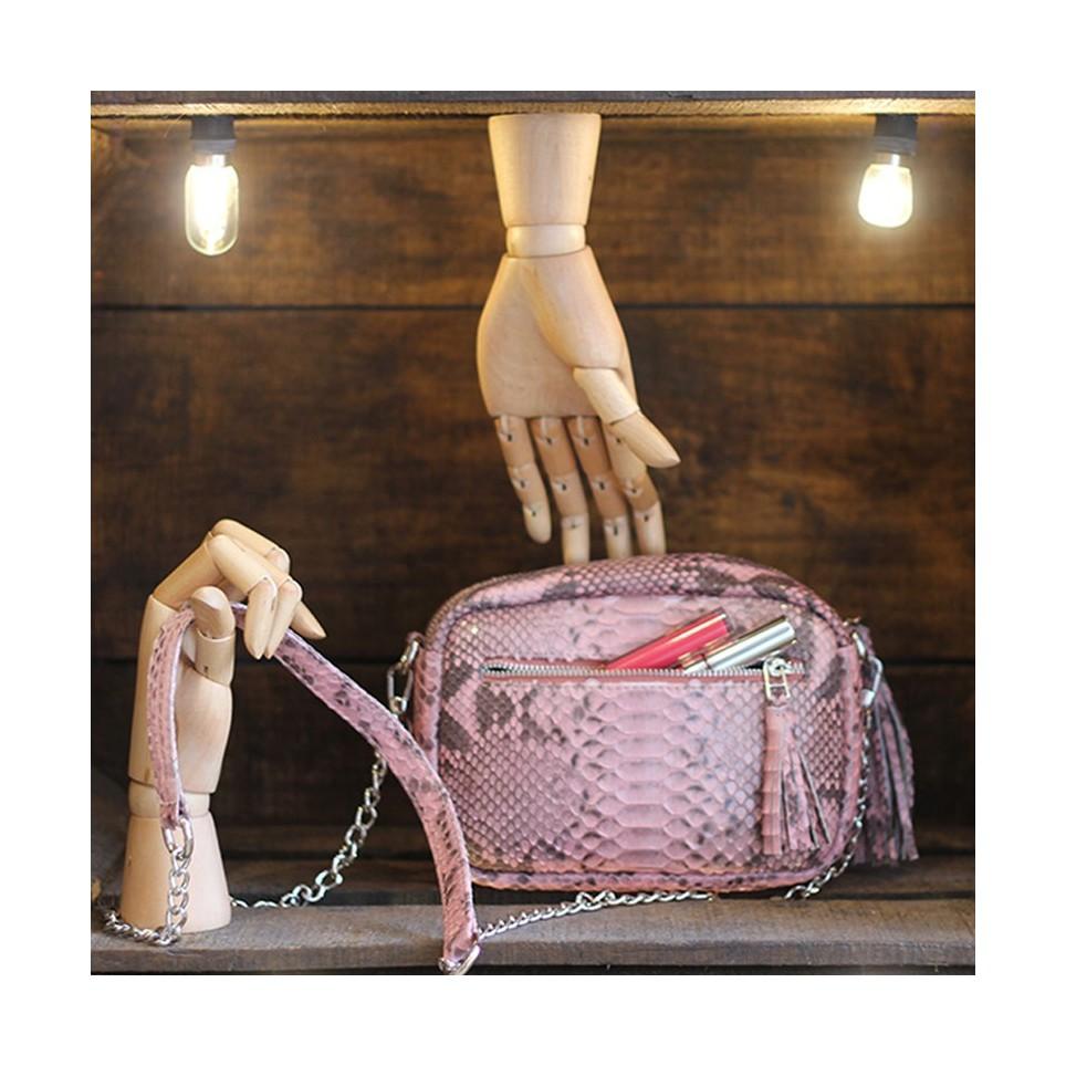 Camera Bag avec poche zippé Pink motif